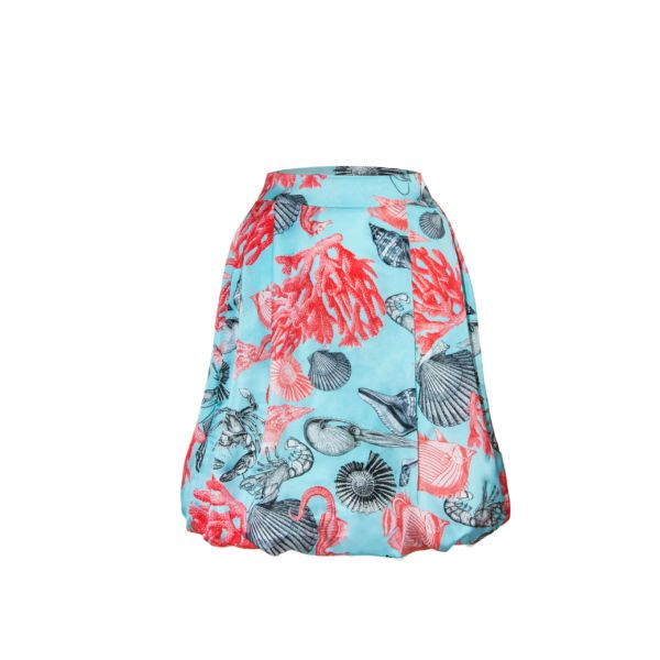80, skirt , satin, red, blue, Marciano, Cosel, Poland