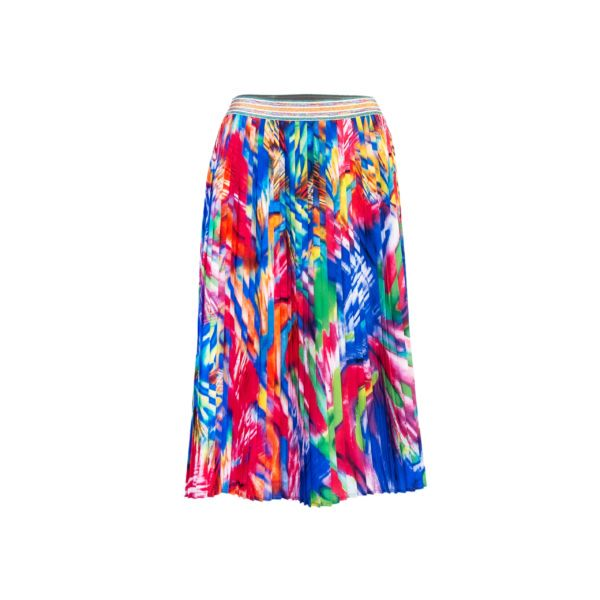 Multicolor, Pleated, skirt, PES, printed, Poland
